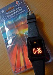 Alarm LED-Sicherheits-Alarm-Ambanduhr wiederaufladbar neuwertig mit