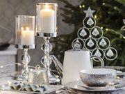 Kerzenständer silbern 37 cm COTUI