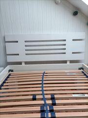 Holzbett weiß 120 × 200