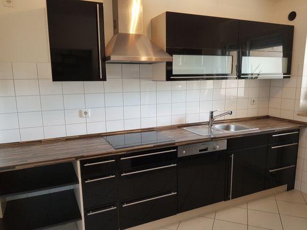 Küche Nobilia Schwarz Hochglanz Mit