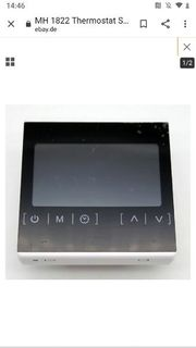 Thermostat MH1822 touch display Fussbodenheizung