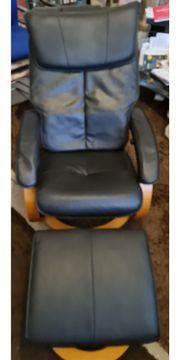 Massagesessel Relaxliege mit Massagefußbank