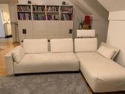 Sofa Couch mit Lampen und