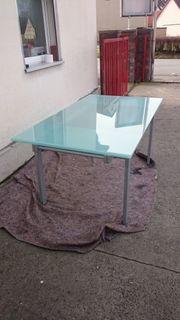 Glastisch Tisch Esstisch ausziehbar