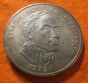 Große Silbermünze 20 Balboas 1973