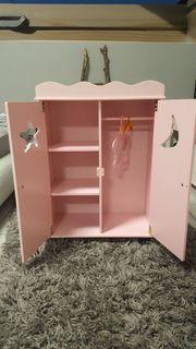Puppenkleiderschrank rosa