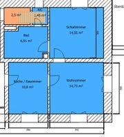 50 m2 Wohnung 2 Zimmer
