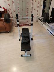 hantelbank 54Kg Gewicht SZ-Stange