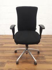 Bürodrehstuhl schwarz mit dynamischer Sitzfläche