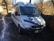 Wohnmobil Kastenwagen Mercedes Sprinter Renntransporter