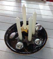 Adventsschale Weihnachtsschale Deko-Schale Adventskranz Kerzen-SchaleOhne