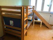 Bett Etagenbett Hochbett mit Rutsche