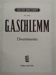 Violine Harfe G A Schlemm