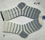 Handgestrickte Socken Gr 41 42