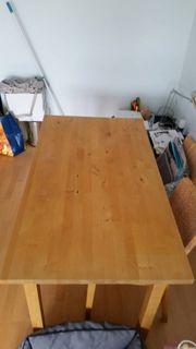 Massiv-Holztisch EssTisch 4 Stühle