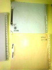 alphabetische Registerblätter A - Z für