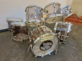 Bild 4 - Vintage-Drum-Set SONOR Phonic Acryl smokey - Neulußheim