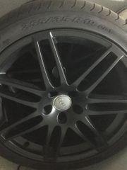 Original Audi Kompetträder schwarzmatt Pulverbeschichtet