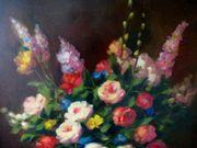2 tolle alte Stillleben Gemälde
