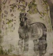Schöne Grafik Junges Wildpferd im