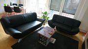 Schwarzes Sofa Set