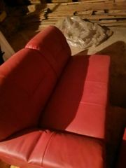 Leder Couch inkl Bettfunktion