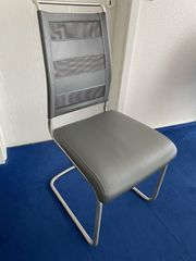 -4- Esstischstühle - Freischwinger