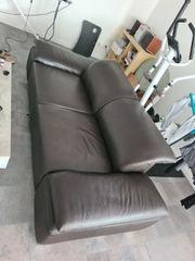 Couch echtes Leder dunkelbraun