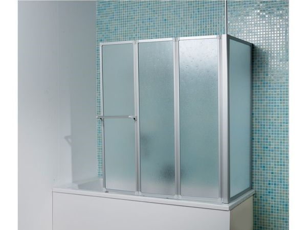 Badewannenaufsatz 3-teilig mit Seitenwand