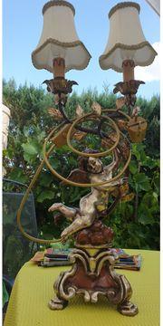 Tischlampe Antik Engel