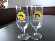 2 Bräuchle Pilsgläser Biergläser 0