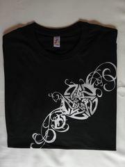 Damen T-Shirt Schwarz mit Pentagramm