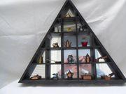 Setzkasten Holz Dreieckig schwarz mit