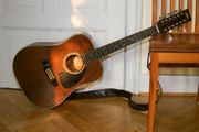 12-saitige Aria Westerngitarre Gut erhalten
