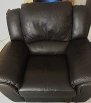 Sessel mit Relaxfunktion aus Echtleder