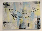 Gemälde Acrylbild Moby Dick Abstrakt