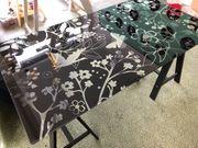 Ikea Glasholm Tischplatte schwarz mit