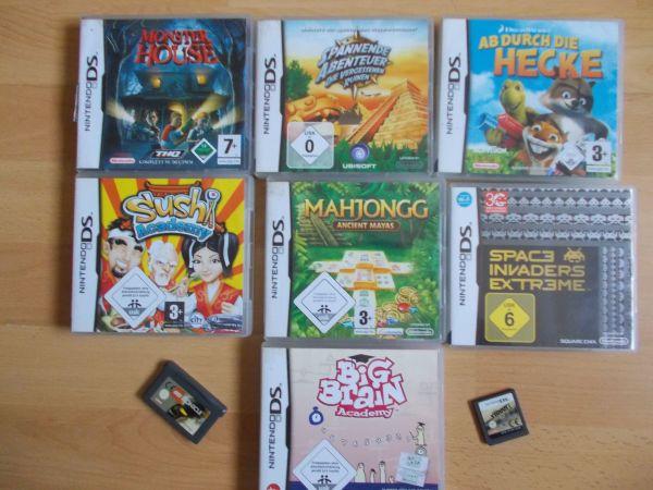 9 verschiedene Nintendo DS DSi