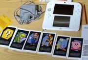 Nintendo 2DS Rot-Weiß mit 9