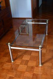 Wohnzimmertisch Glas Metall