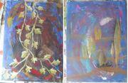2 Gemälde Wandbild Kunstwerke auf