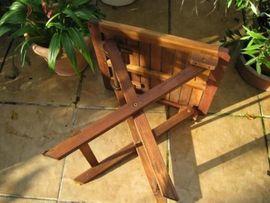 Gartenmöbel - Beistelltisch Klapptisch Holz Tisch Gartentisch