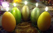 5x LED Ostereier mit Luma -