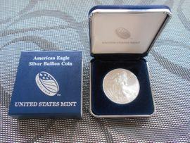 USA 1 Dollar Silver Eagel 2018 im Original Etui 1 oz Silber