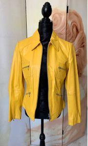 Lederjacke gelb Gr 36