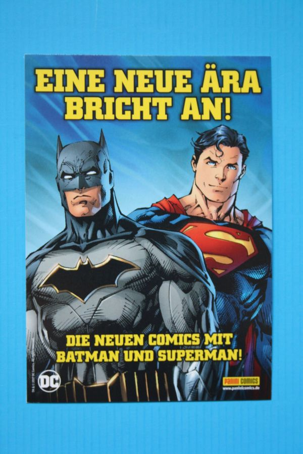 Batman - Superman - Postkarte von panini