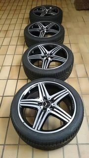 AMG Sommerräder 18-Zoll schwarz poliert