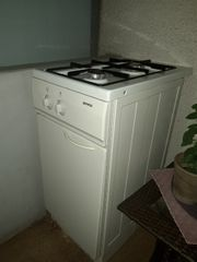 Kochherdplatte freistehend mit Gasflasche