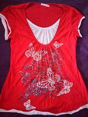 Schönes Shirt 2-in-1-Optik mit dekorativem