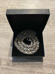 Königskette flach 9mm 925 Silber